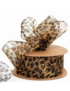 Nastro wilde animalier leopard