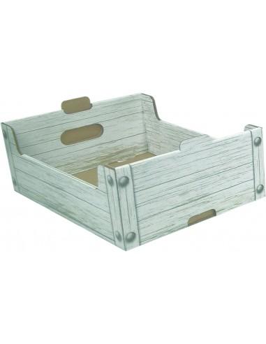 Cassettine in cartone effetto legno...